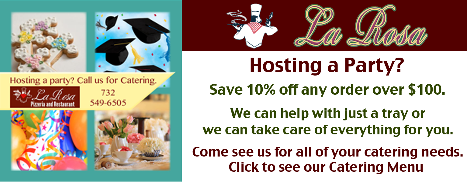 Hosting a Party?  We can help!