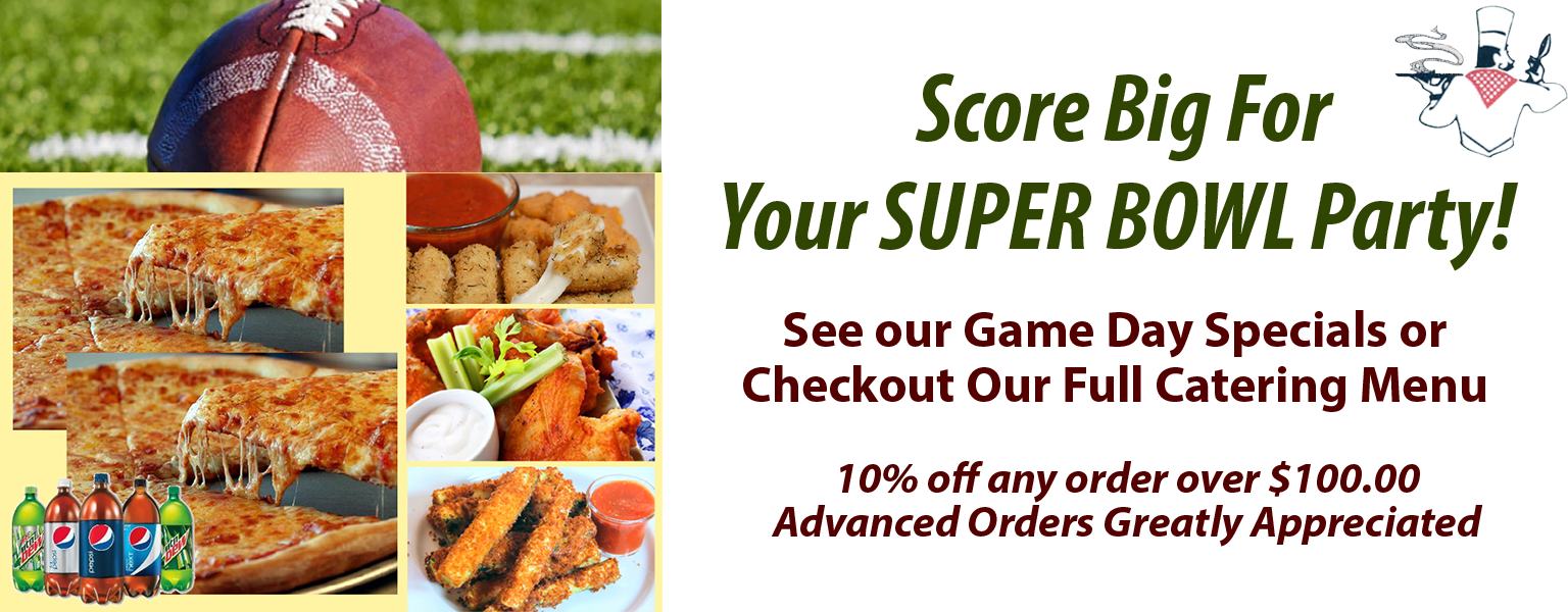 Catering a SUPERBOWL Party in Metuchen/Edison?  We can help!
